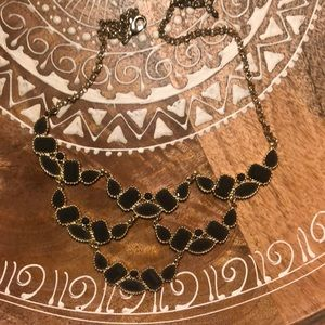 Dark grey Francesca's statement necklace
